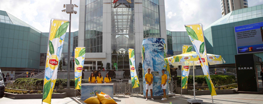 lipton ice tea double ice shopping mall activation